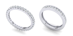 Crown Ring Wedding Band Sets